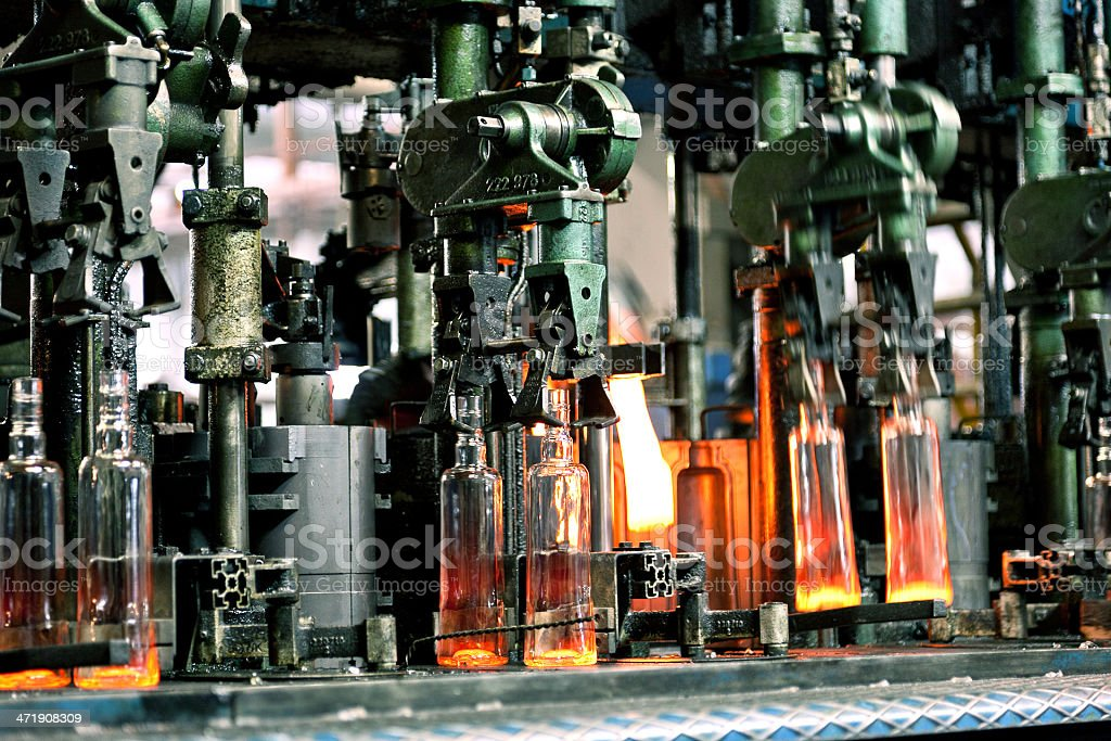 Glass Manufacturing stock photo