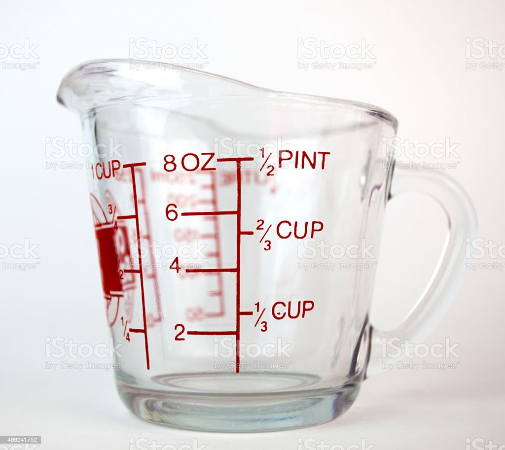 Glass Measuring Cup stock photo