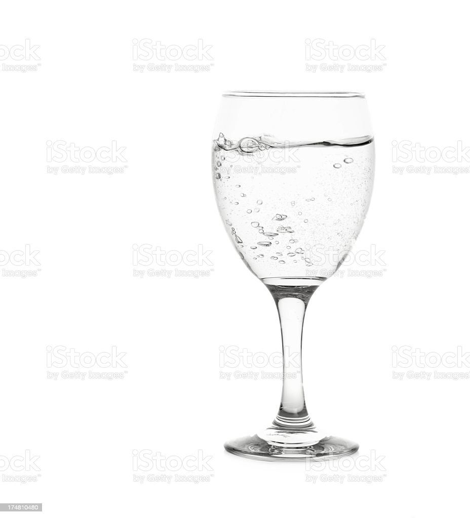 Glass mineral water isolated on white background royalty-free stock photo