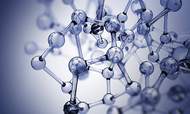 glass molecules - molecule stock photos and pictures