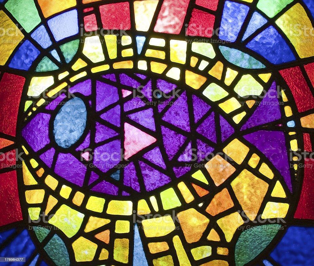 Glass mosaic fish royalty-free stock photo