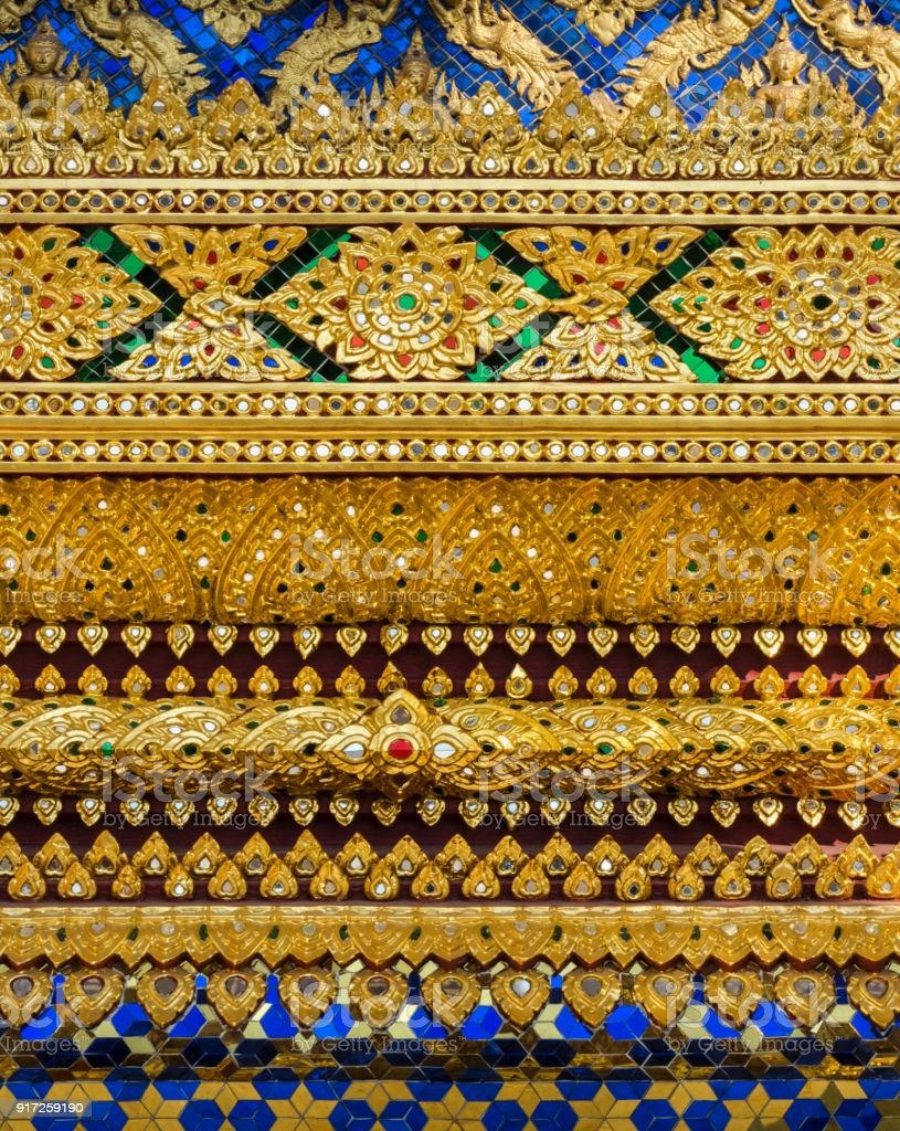 Glass Mosaic Wall Pattern Design In Thai Temple Stock Photo & More ...