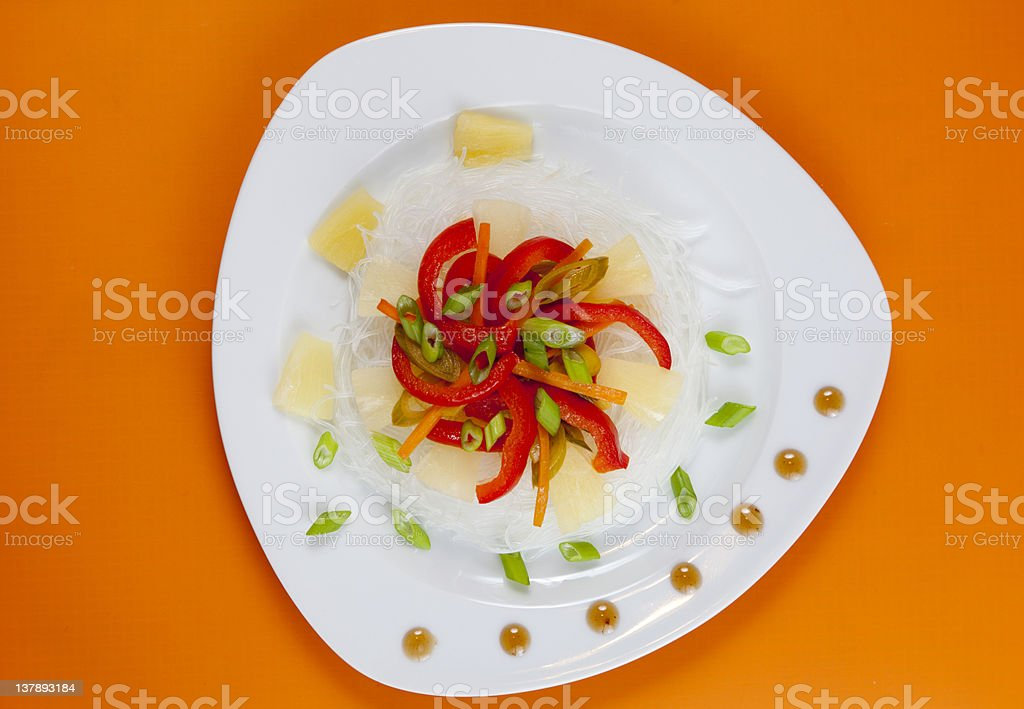 Glass noodles with vegetables stock photo