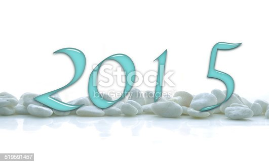 istock 2015, glass numbers on a white stones line 519591457