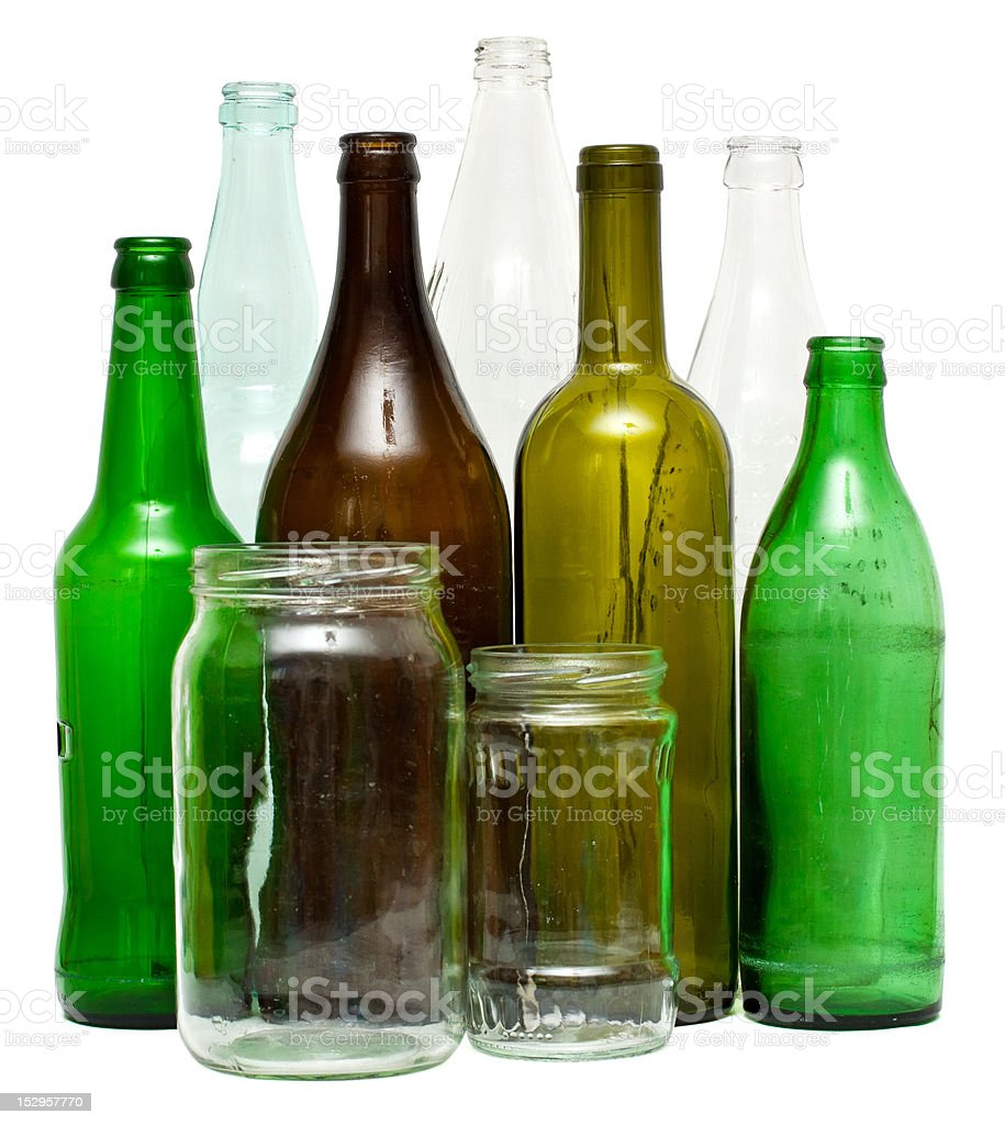 Glass objects royalty-free stock photo