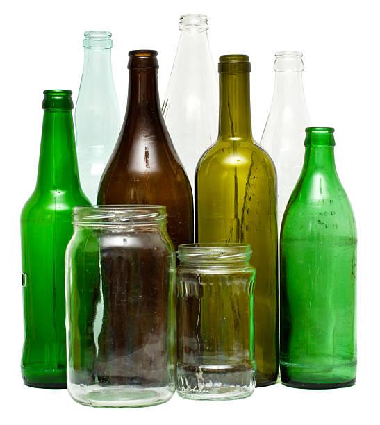 Los objetos de vidrio - foto de stock