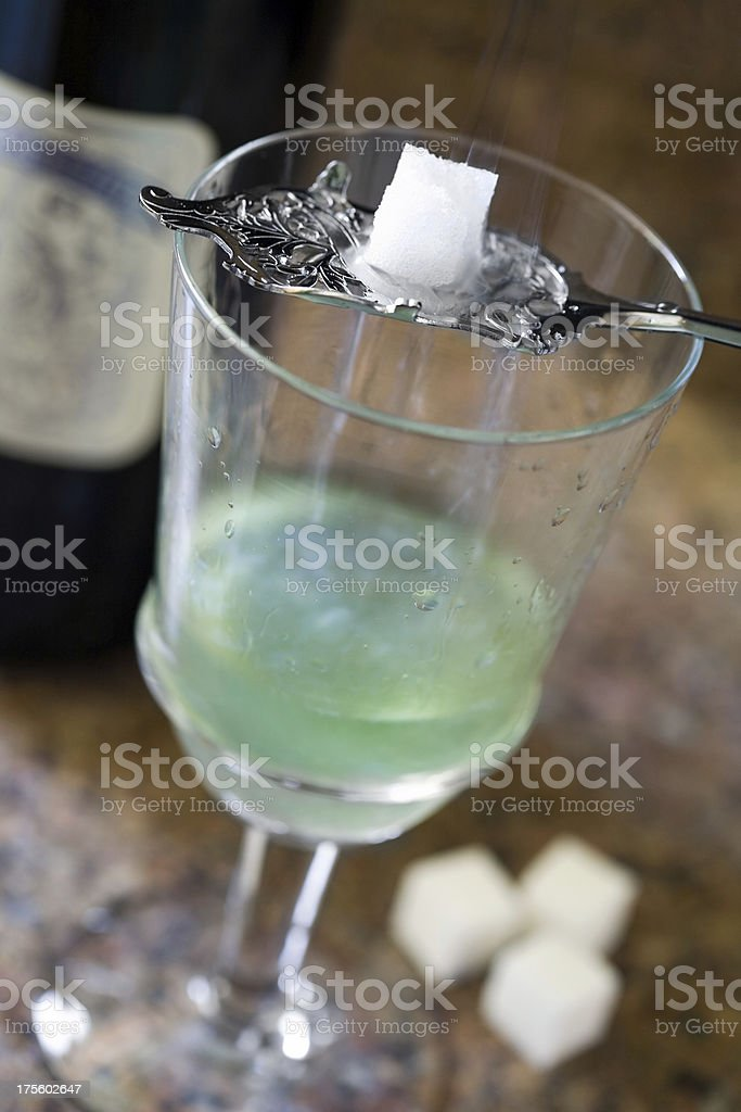 Glass of Absinthe stock photo
