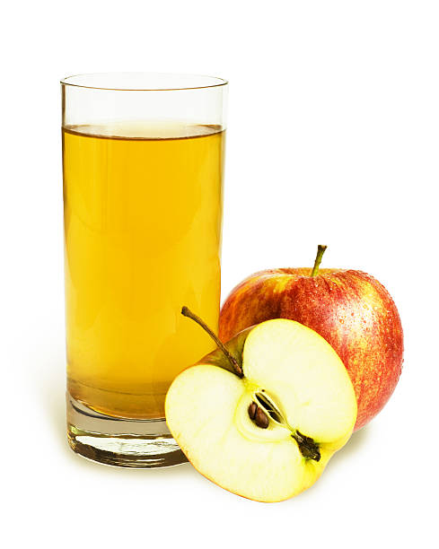 Glass of apple juice with apples Apple juice hot apple cider stock pictures, royalty-free photos & images