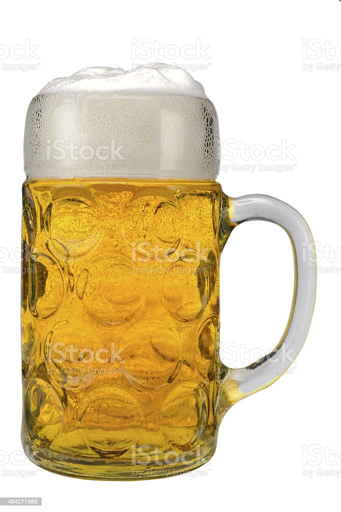 Glass of bavarian lager beer picture id464271985