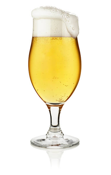 Glass of beer isolated on white with clipping path Glass of beer isolated on white with clipping path,, isolated on white. pilsner stock pictures, royalty-free photos & images