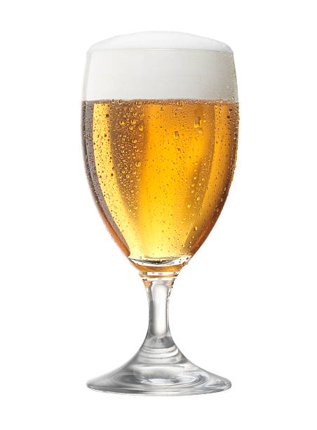 Glass of  beer Fresh glass of pils beer with froth and condensed water pearls beer glass stock pictures, royalty-free photos & images