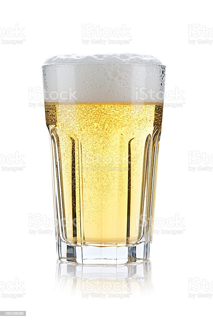 Glass of beer royalty-free stock photo