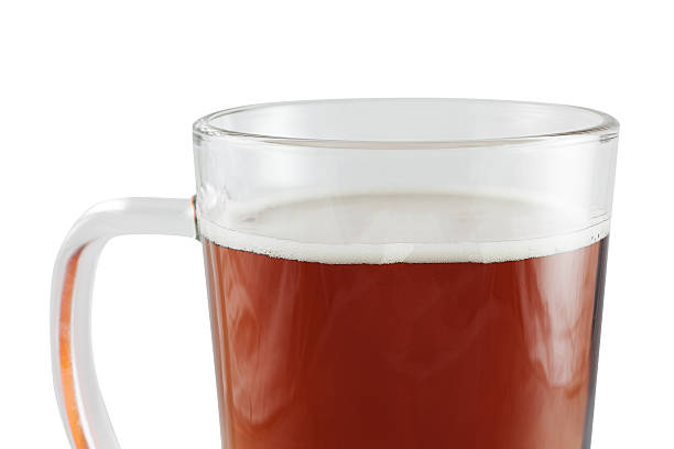 Glass of beer Fresh chilled glass of beer, isolated on a white background. anhydrous stock pictures, royalty-free photos & images