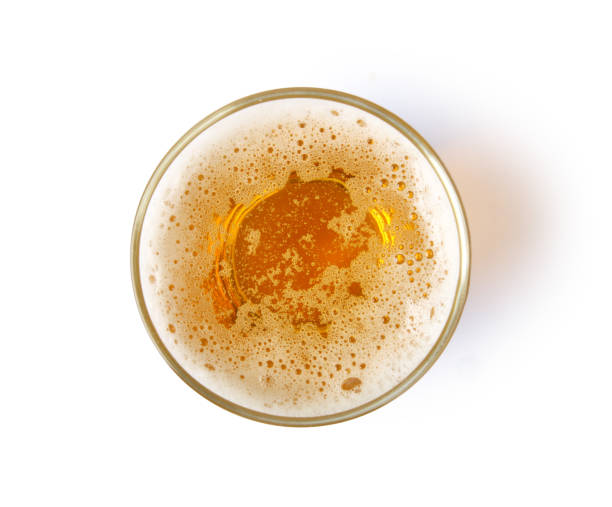 glass of beer - beer glass stock photos and pictures