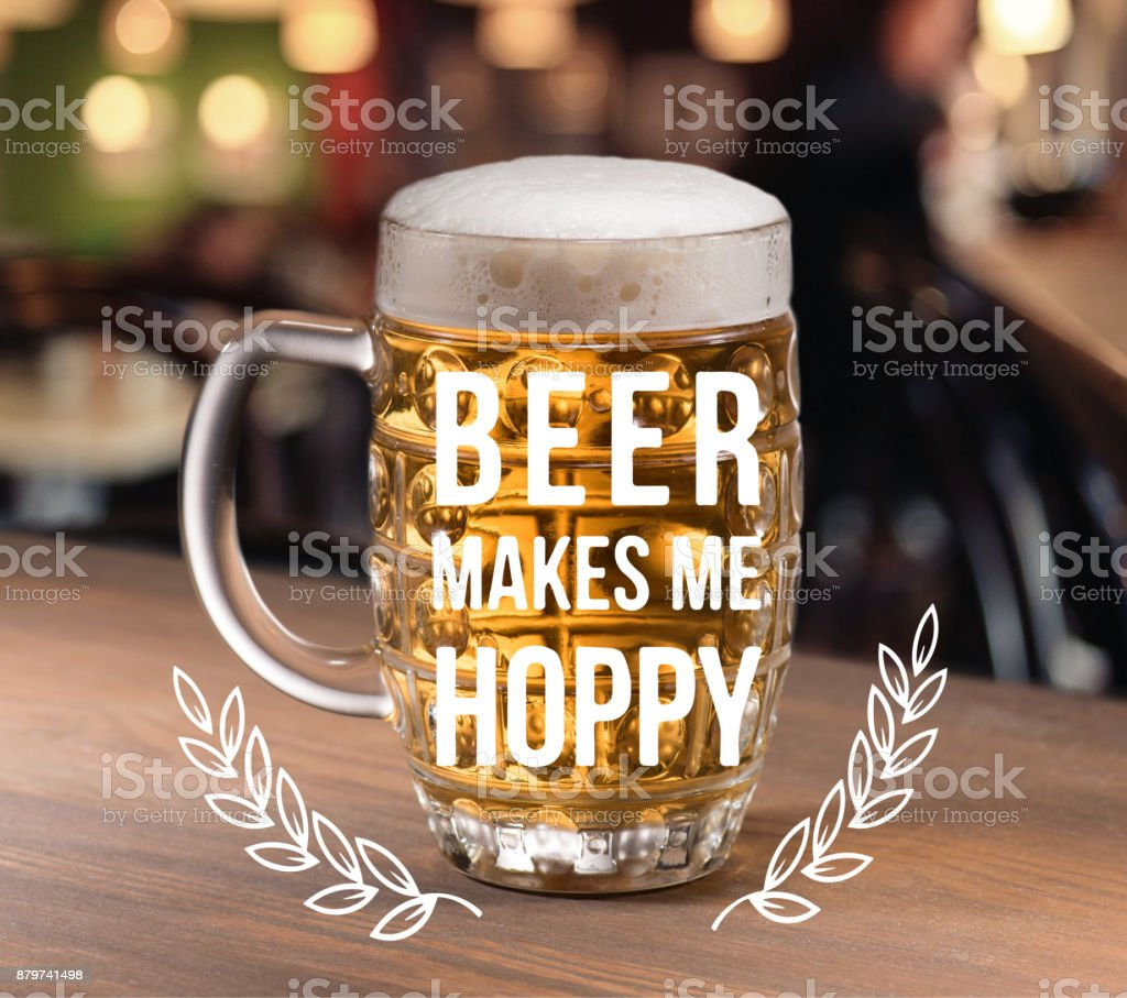glass of beer standing table – zdjęcie