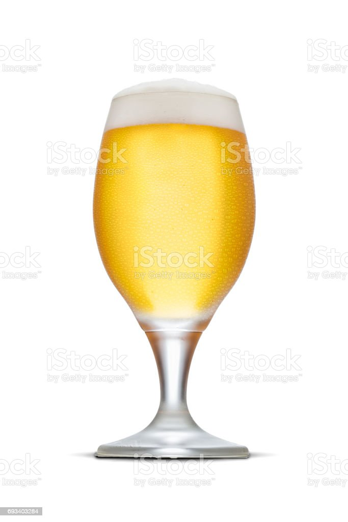 Glass of beer with foam stock photo