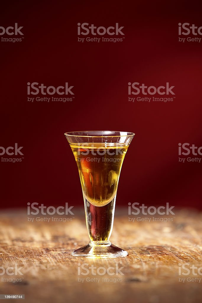 Glass of brandy or congac royalty-free stock photo