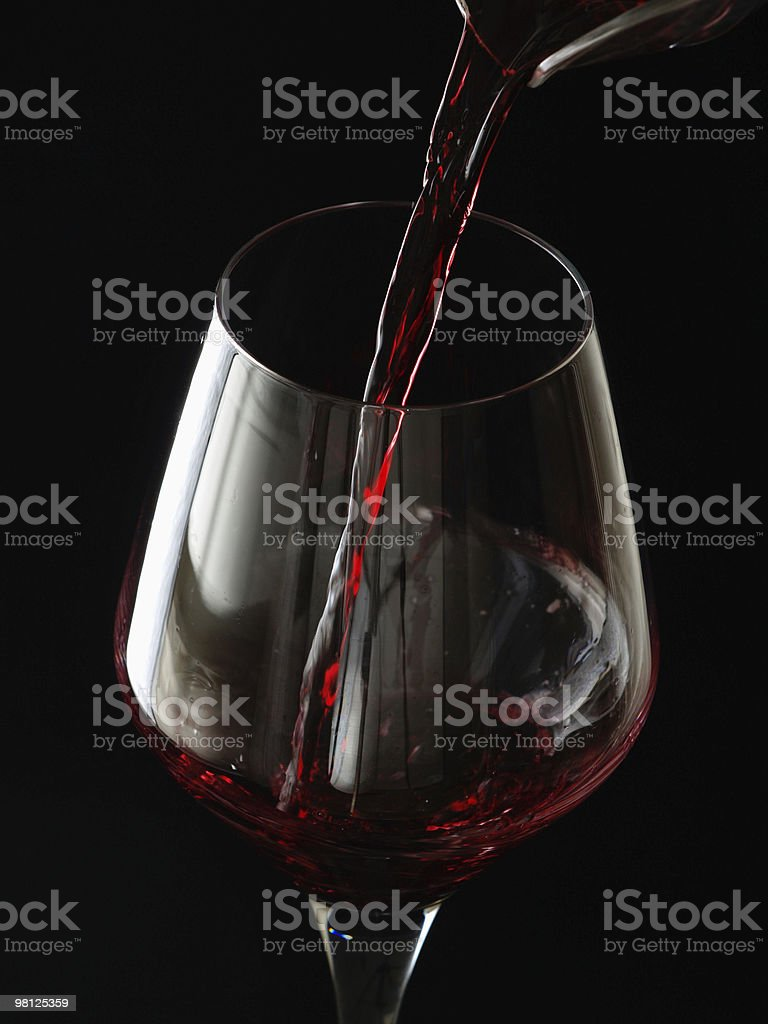 Glass of burgundy. royalty-free stock photo