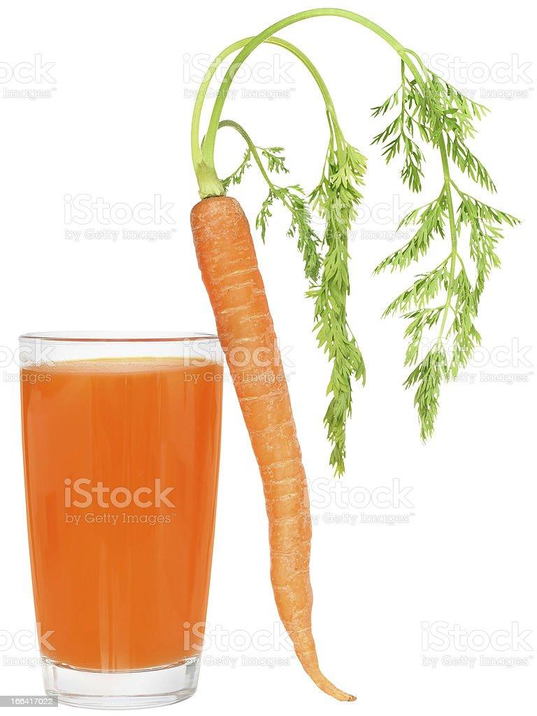 Glass of carrot juice stock photo