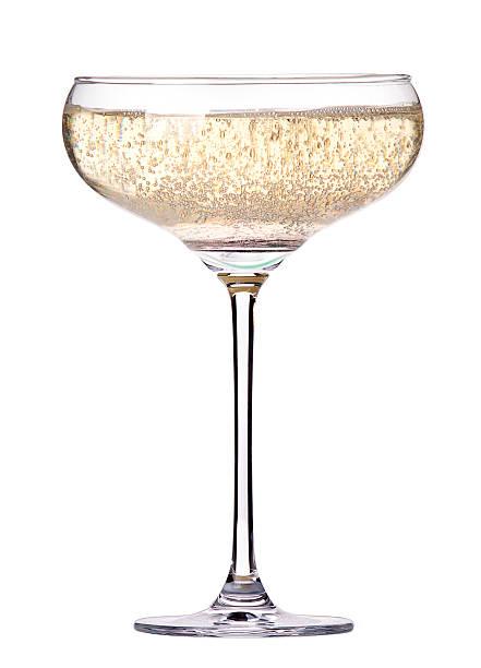 glas champagner, isoliert - sektglas stock-fotos und bilder