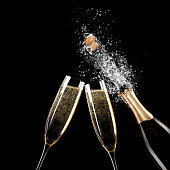 istock Glass of champagne wine. Alcohol drink 1196515919