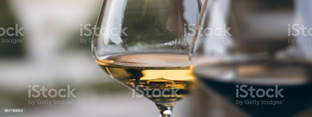 Glass of Chardonnay White Wine Close Up stock photo