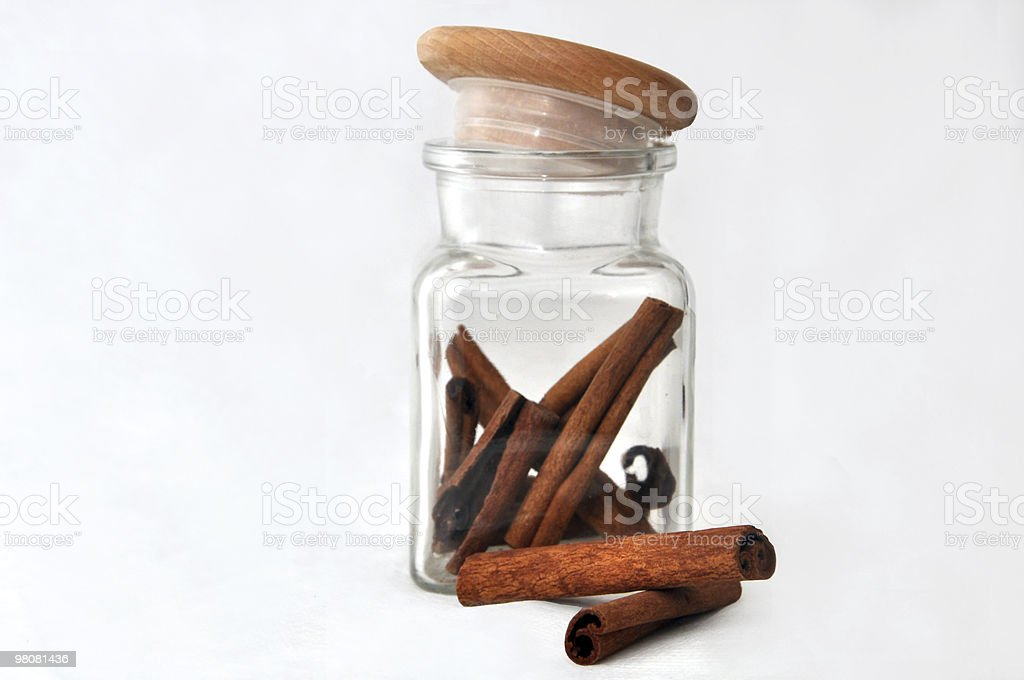Glass of cinnamon royalty-free stock photo