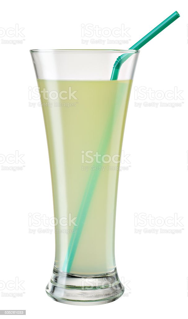 Glass of citrus (lemon lime) juice isolated. With clipping path stock photo