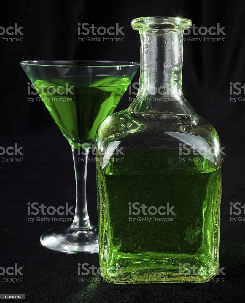 glass of cocktails stock photo