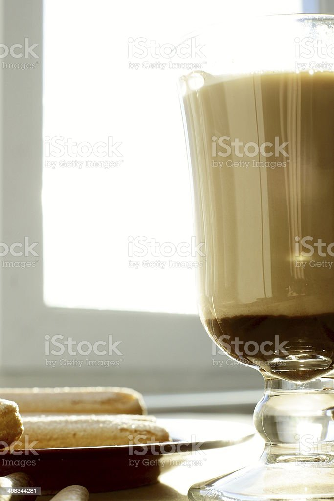 Glass of coffee royalty-free stock photo