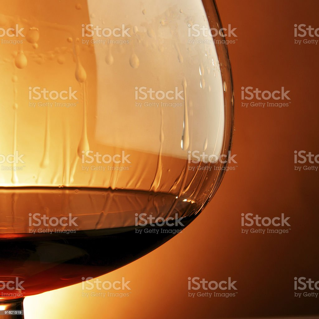 Glass of cognac close-up royalty-free stock photo