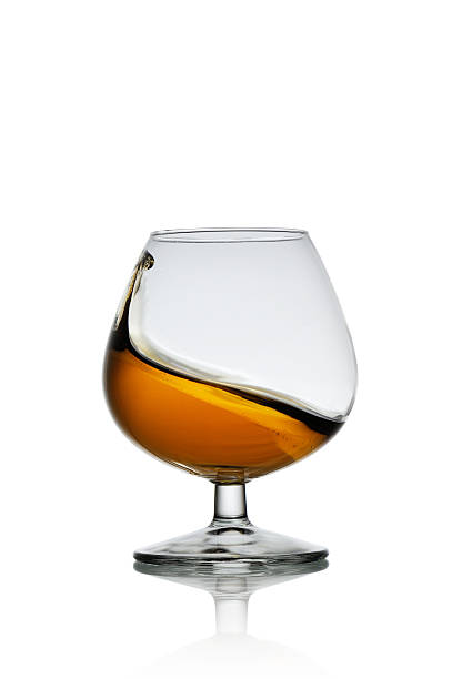 Glass of Cognac Drinking Themes brandy stock pictures, royalty-free photos & images