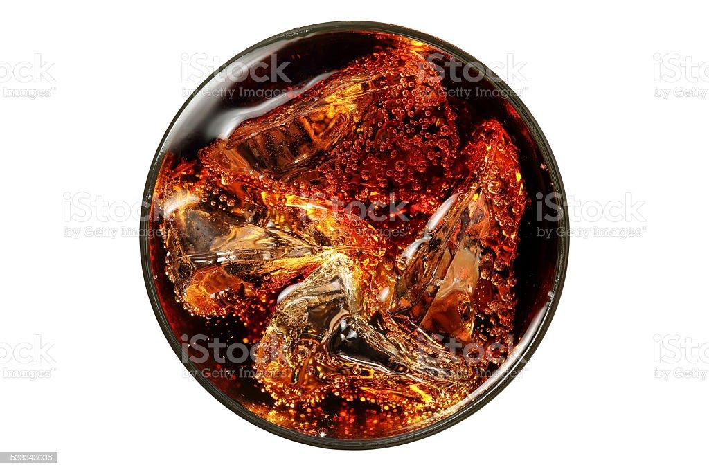 glass of coke stock photo