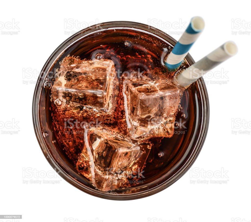 Glas cola mit Eis und Getränke – Foto
