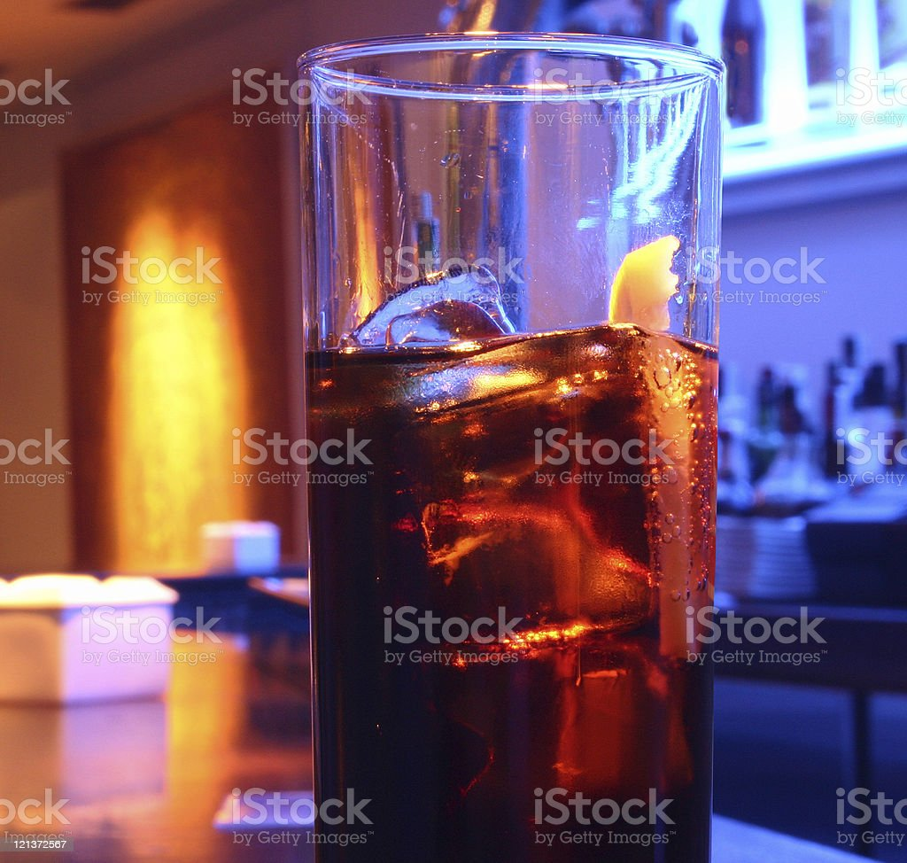 Glass of Cola Soft Drink royalty-free stock photo