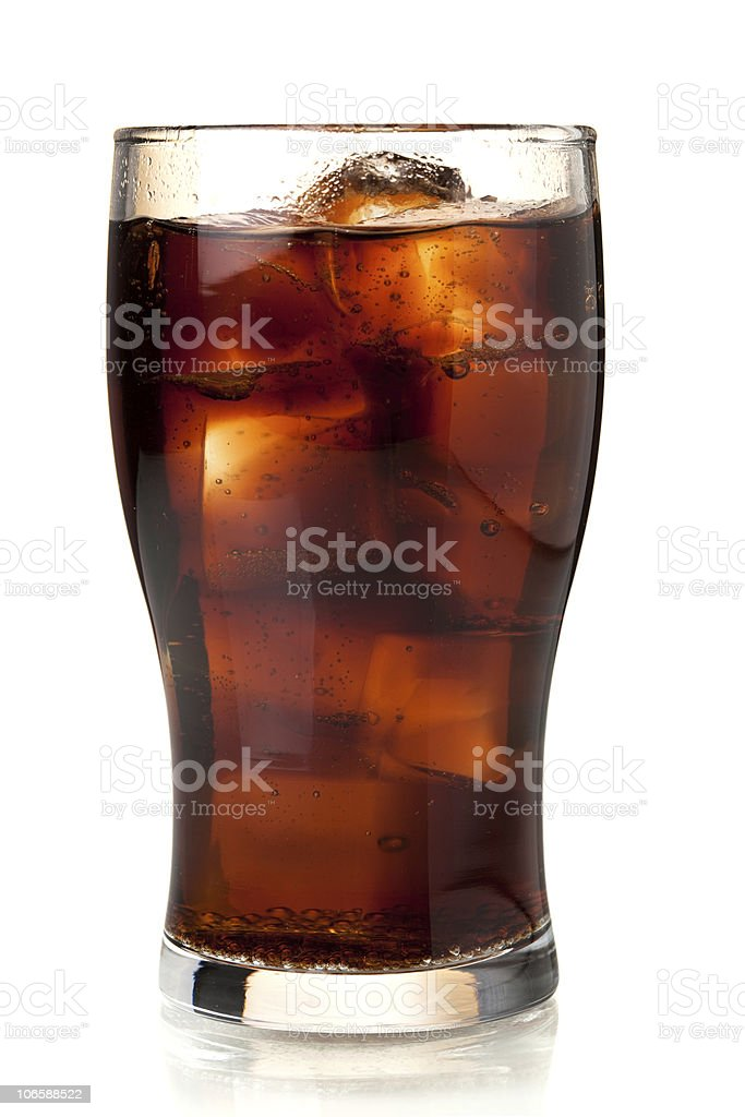 Glass of cola with ice royalty-free stock photo