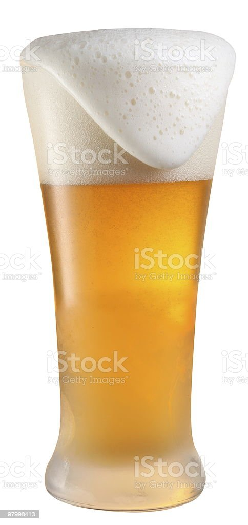 glass of cold beer royalty-free stock photo