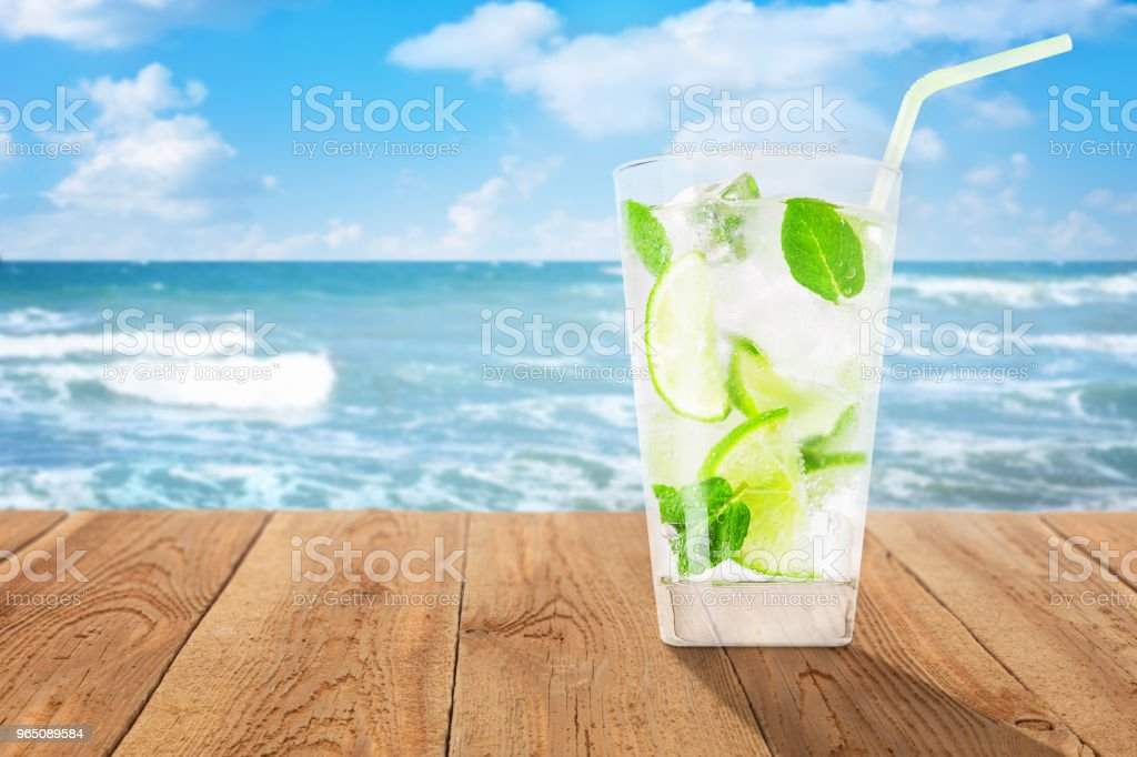 glass of cold lemonade royalty-free stock photo