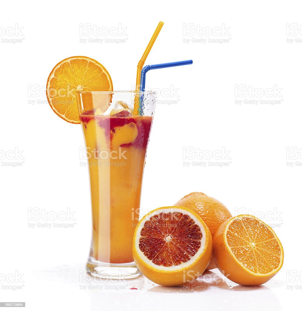 glass of cold orange cocktail royalty-free stock photo
