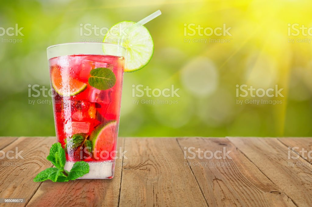 glass of cold red cocktail royalty-free stock photo