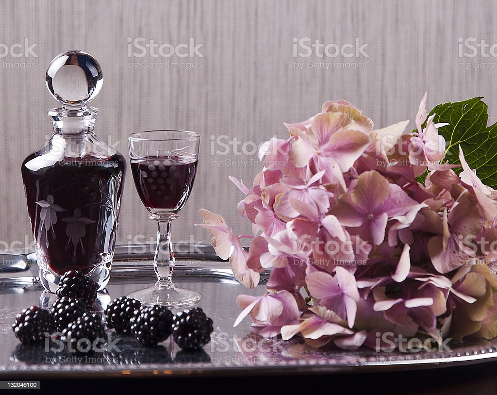 glass of cordial stock photo