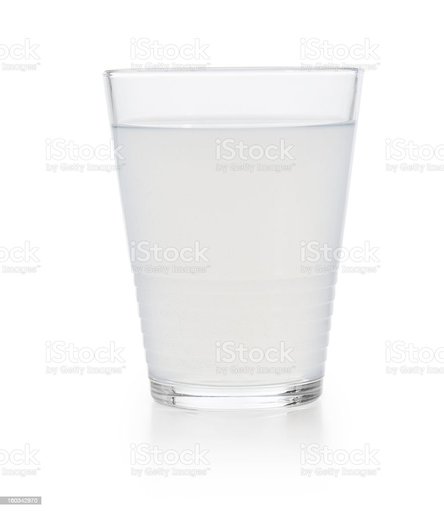 Glass of dirty water stock photo