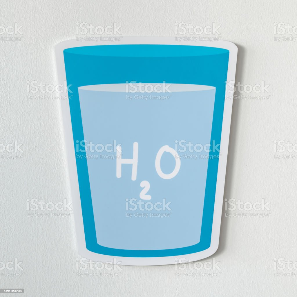 Glass of drinking water icon - Royalty-free Blue Stock Photo