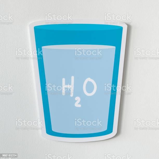 Glas Av Dricksvattenikonen-foton och fler bilder på Blå