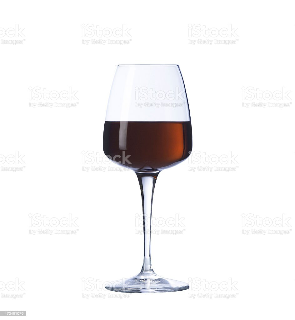 Glass of fortified wine stock photo
