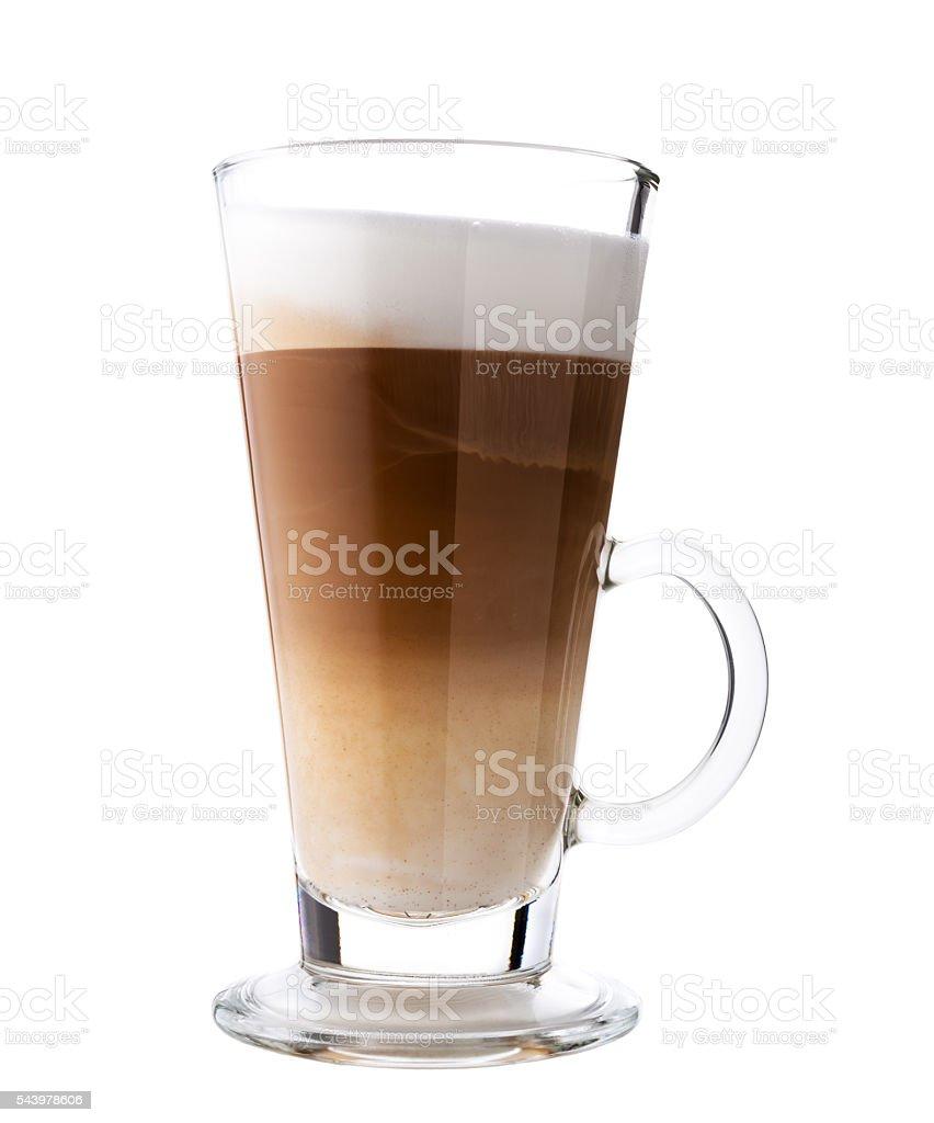 Glass of fresh coffee stock photo