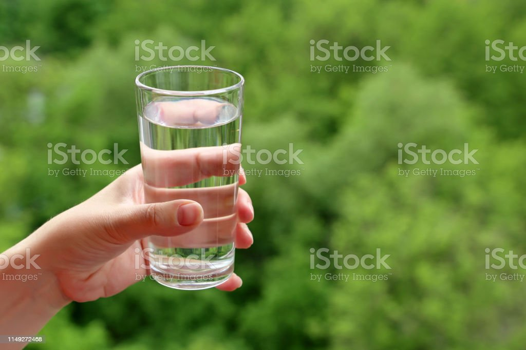 Concept of thirst, freshness, clean water and ecology, healthy diet