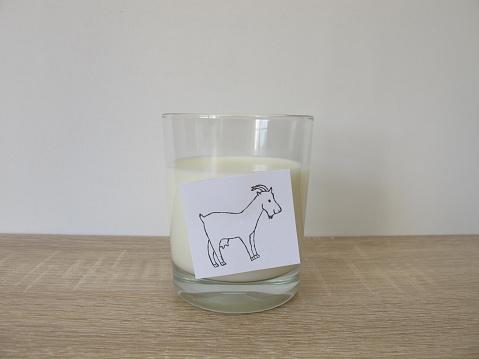 Frische Ziegenmilch