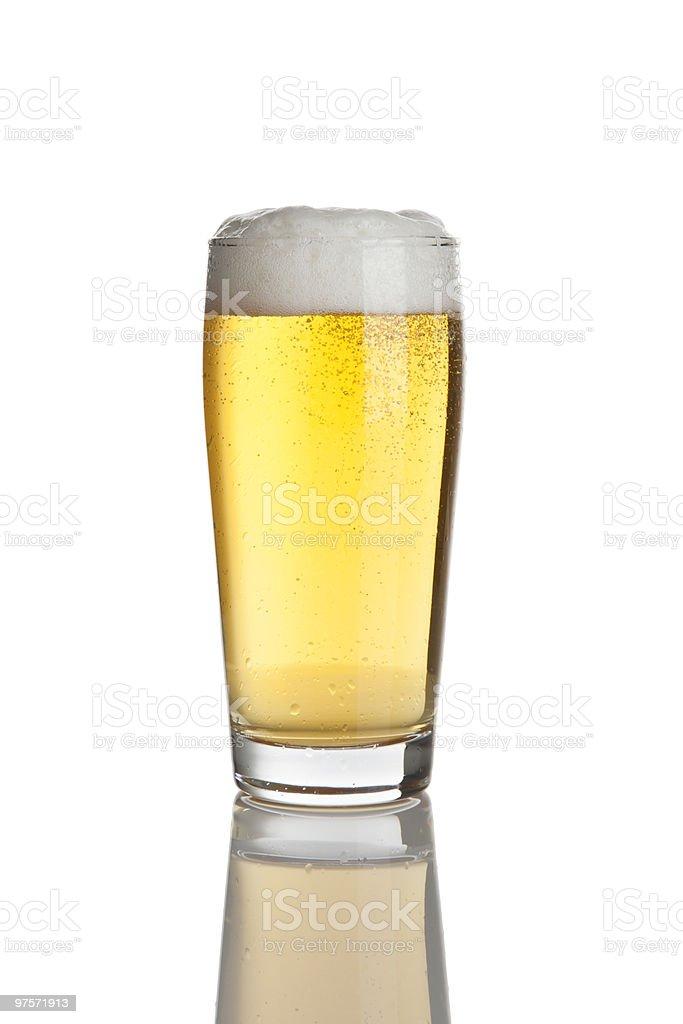 Verre de bière lager frais photo libre de droits