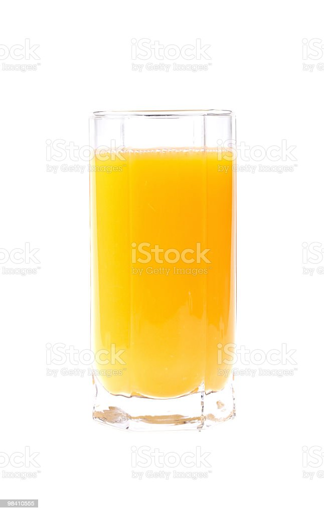 Glass of fresh orange juice royalty-free stock photo